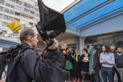 Inauguration local de campagne Niort énergie nouvelle